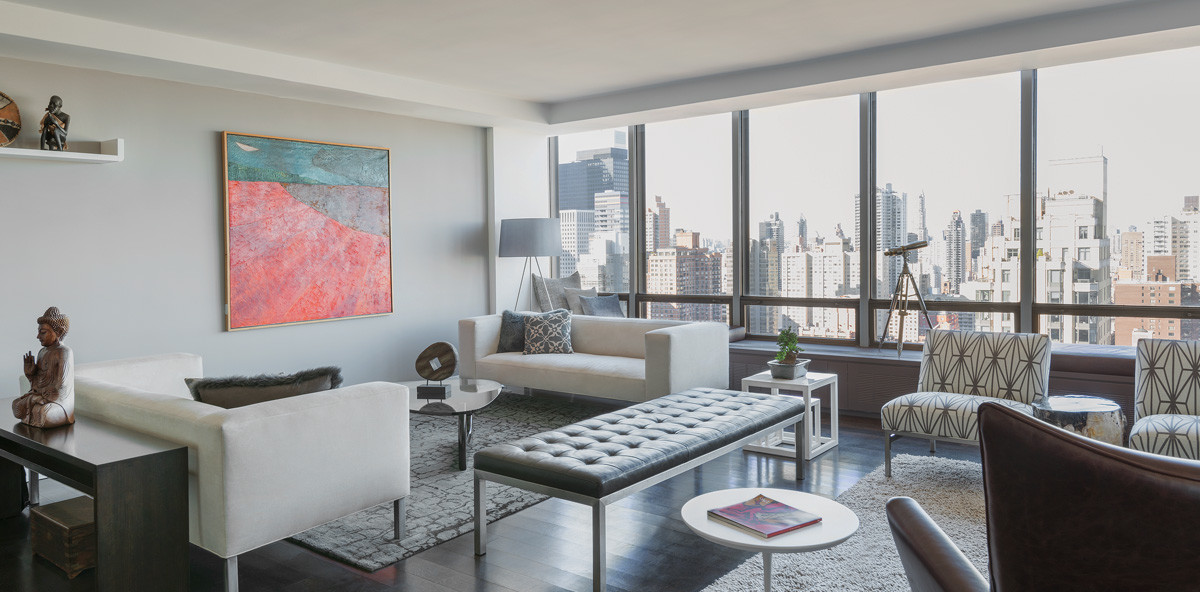 860 UN Plaza Living Room Windows