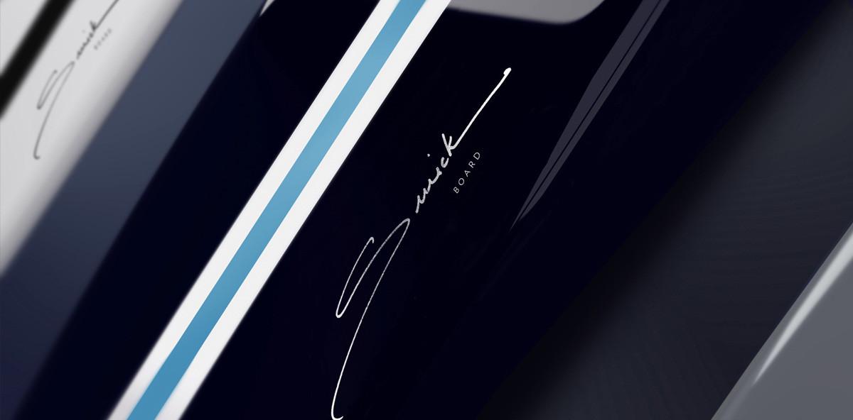 Swickboard Detail of Logo