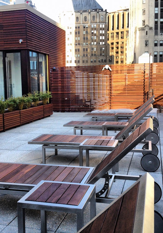 25 Broad Street Roof Loungers